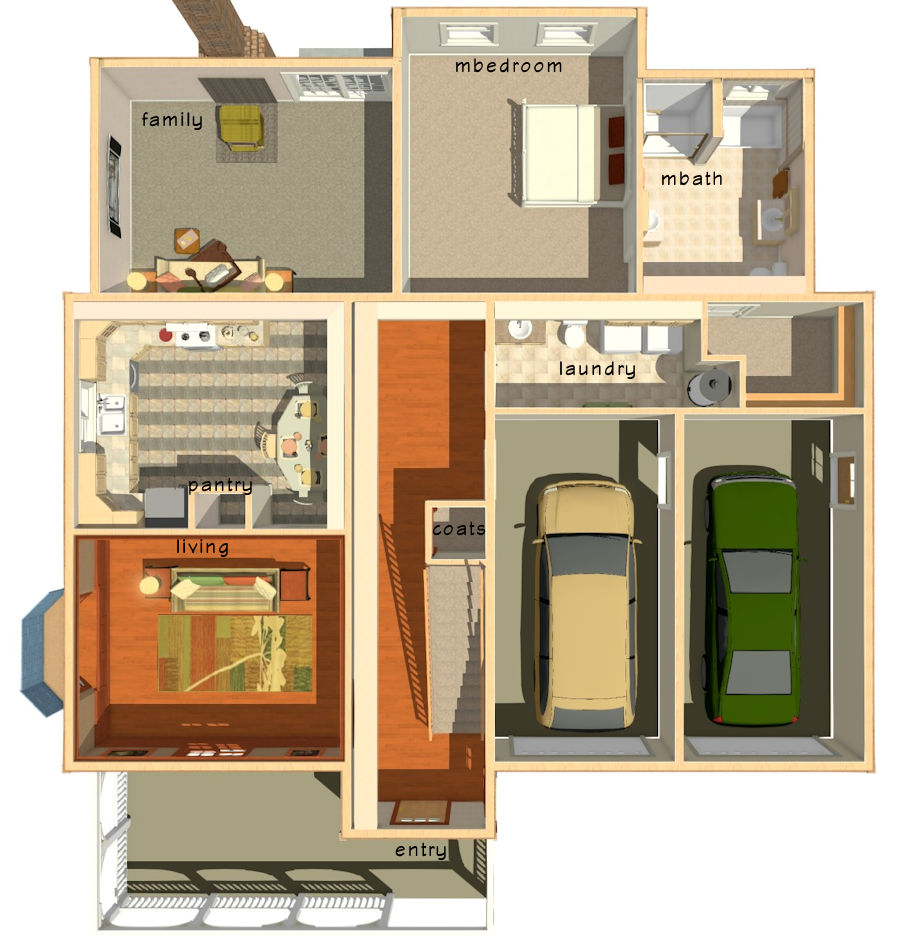 Economy Home Plans  House Plans  Monica HomesSingle click ON PHOTO for REVERSE image  double click to return  All images and house plans are copywrited by the Designer